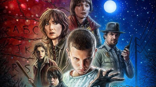 """""""STRANGER THINGS""""Leaning heavily on Spielberg, John Carpenter & Stephen King,the story revolves around a small town, a group of friends, a missing person & a dodgy science lab. Writing anything else would give away the myriad twists in a show that is full of brilliant creepy fun."""
