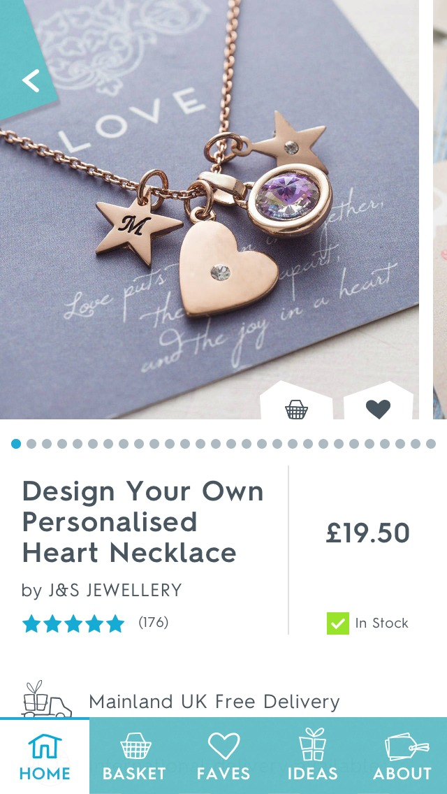 This personalised necklace is perfect and the price is very reasonable.
