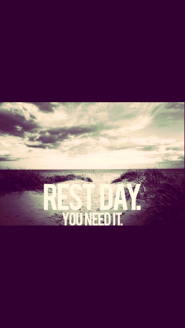 Do this once everyday but take a break one day during the week!