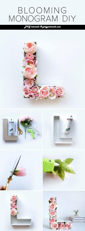 If you're looking for a cute and totally chic piece to add to your spring decor, this Blooming Monogram DIY will be a sweet addition!Try this awesome DIY idea to enhance the beauty of your surroundings.More @ http://girlypictorials.com/