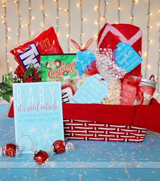 Date night gift basket for christmas