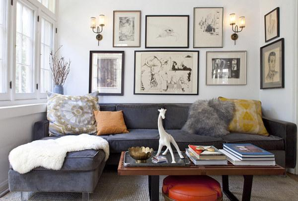 Choose statement furniture that fills the room.