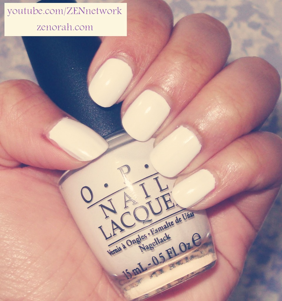 Paint two coats of white nail polish onto your nails