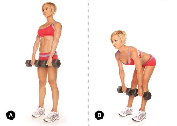 Stiff leg deadlift: 4 sets of 15 reps