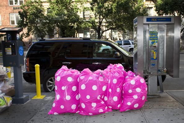 Who has decorative trash bags?!