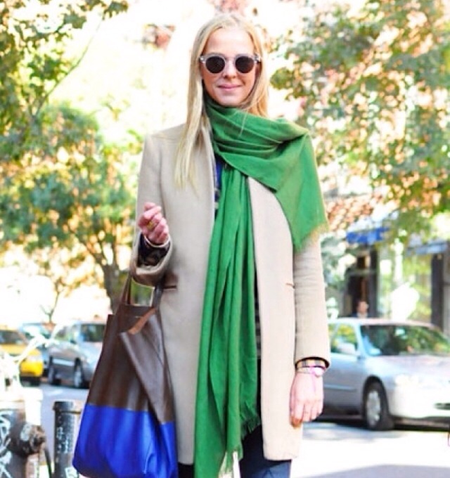 Add a bright scarf