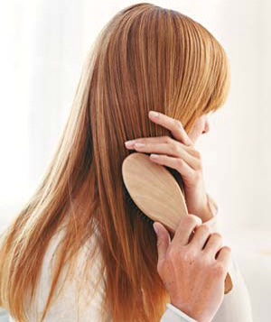 Properly brushing your hair at least twice a day will help remove the dead skin cells that your scalp naturally sheds. It will also improve blood circulation, which is important for the overall health of the scalp +the hair.