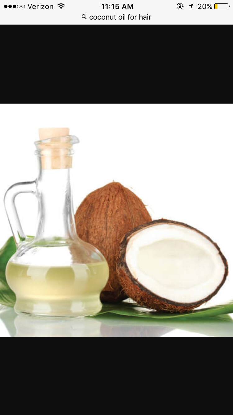 Coconut oil is super good for your hair ! Use it before you shower and any time you want for a moisturizer