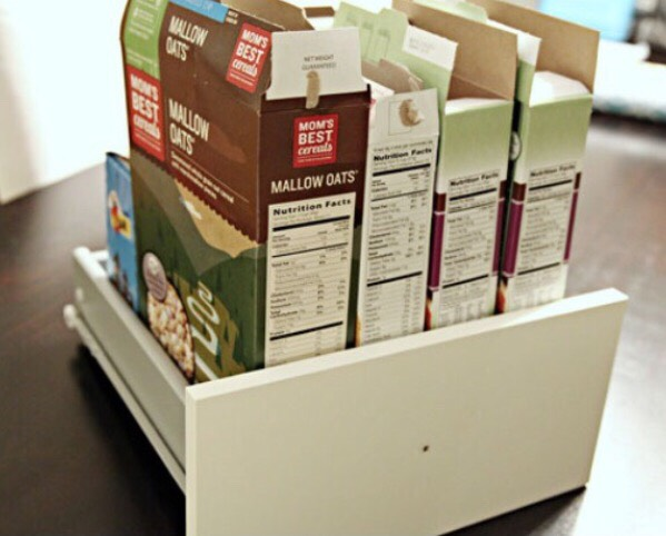 Over the last couple of weeks, I have been collecting left over food boxes such as cereal, snack bars etc. once I had enough to evenly fit into a drawer, I pleased them into the drawer to see if they fit evenly.