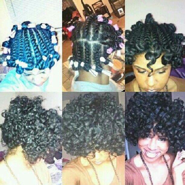 Flat Twists Curls.