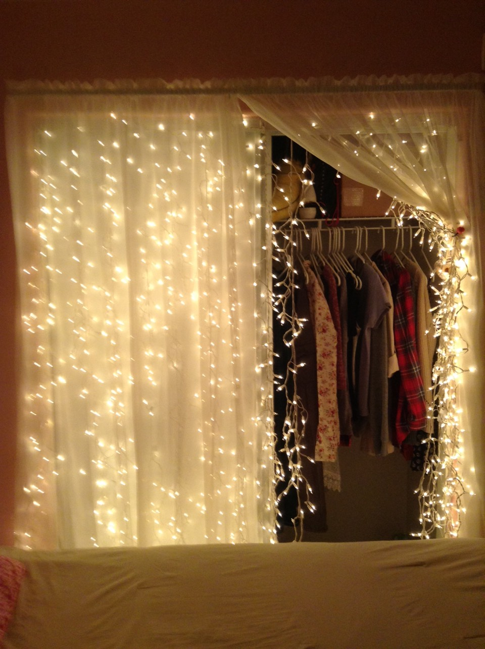 Try dangling Christmas lights from your closet to get that tumblr effect.