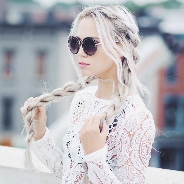 9. Bleached Long Hairstyle