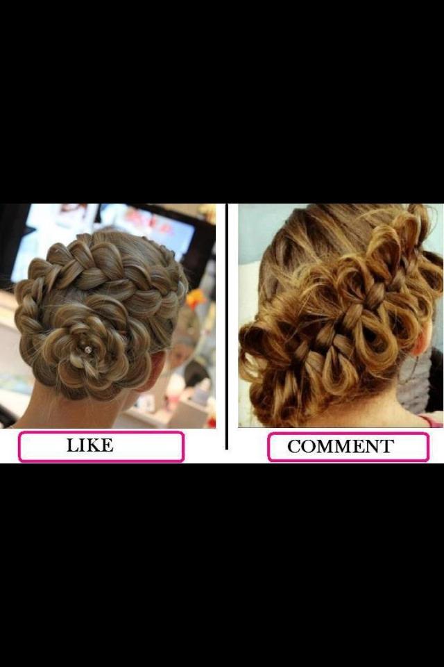 Dutch flower braid and side bow braid.