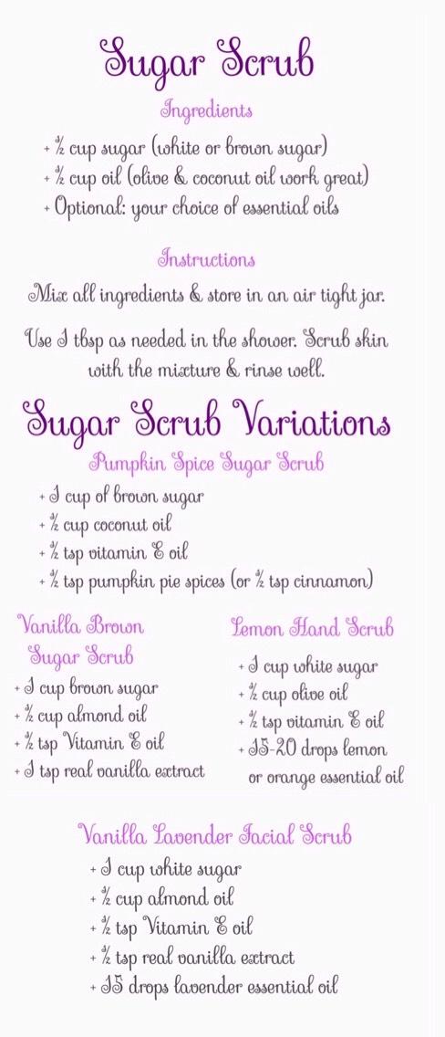 DIY Sugar Scrubs