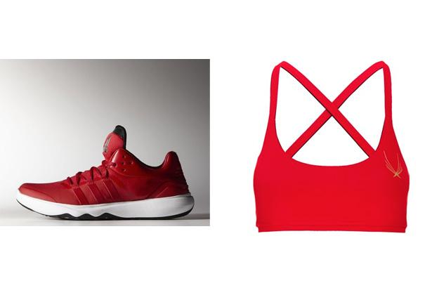 Adidas Adan Trainer Shoes, $85 at Adidas  Lucas Hugh Red Core Performance Sports Bra, $145 at Avenue 32