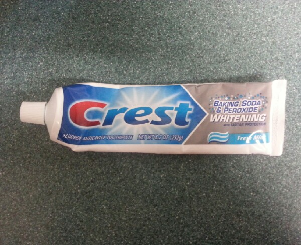 And lastly toothpaste. Any brand will do really.
