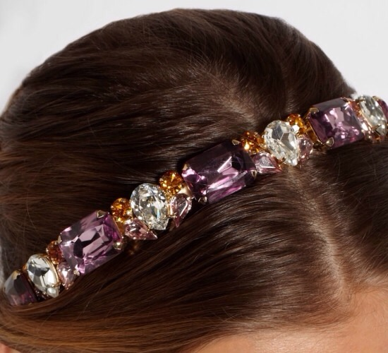 3. Searching for something a little luxe this winter? Try this Dolce & Gabbana Gold-plated Swarovski Crystal Headband. The beautiful pink and orange crystals make this a gorgeous headband for fall and for the springtime, too!