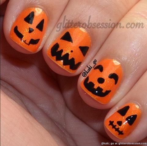 Pumpkin nails🎃🎃💅