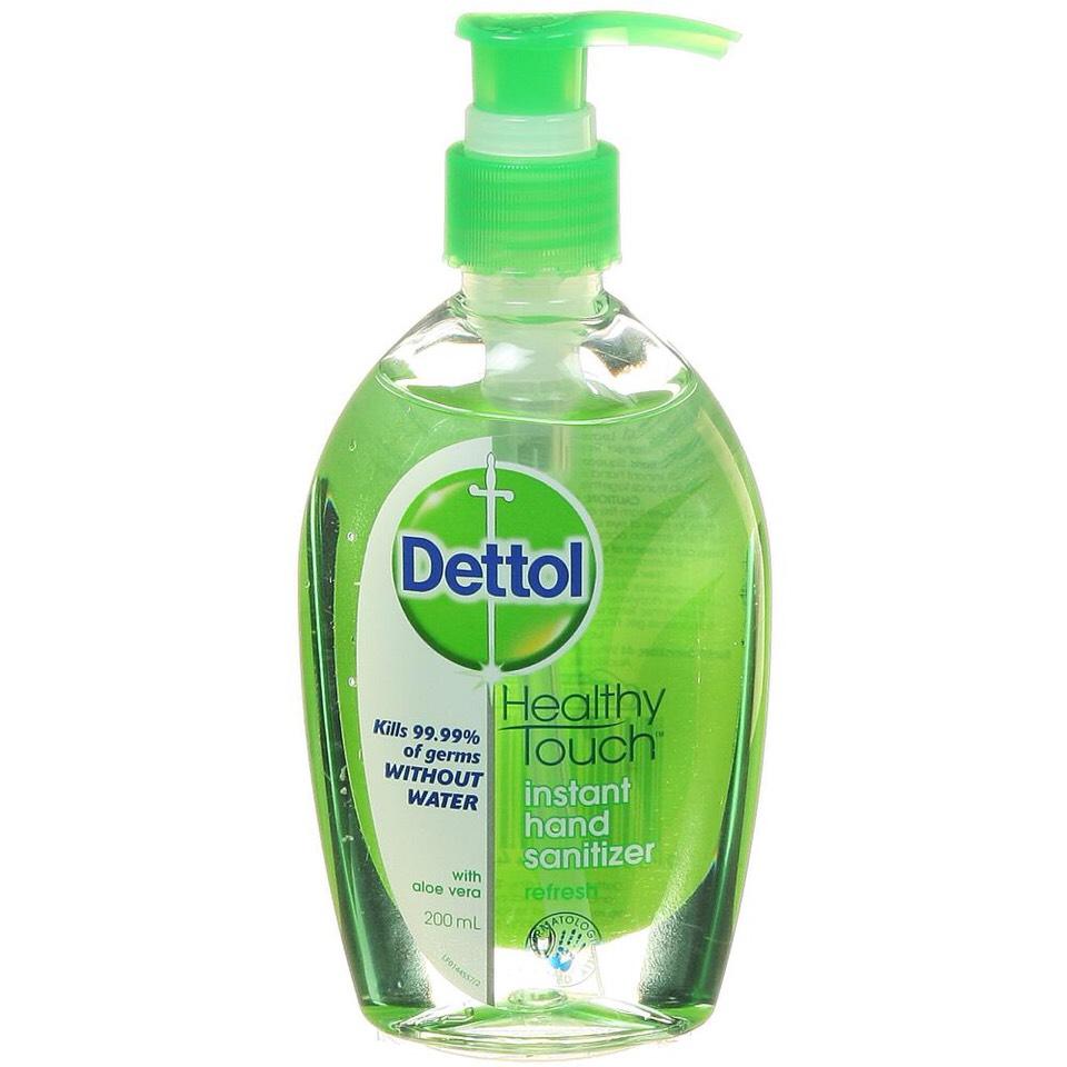 Any small bottle of hand sanitiser