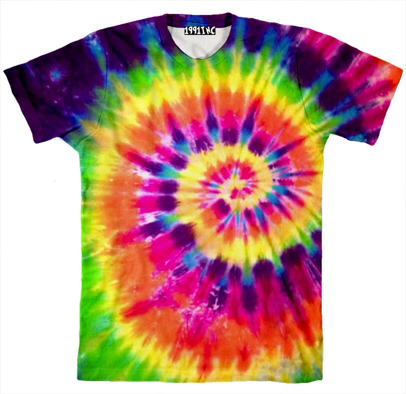 You could just simply tie dye it. I love tie dying!