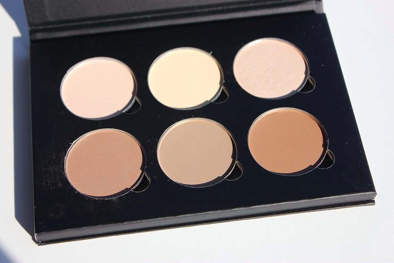 Before contouring you should apply your usual makeup, foundation or BB cream.  The colour you choose for contour should be a shade darker than your foundation or facial  cream. Your high light should be lighter than your foundation or facial cream and should brighten and lighten your facial parts