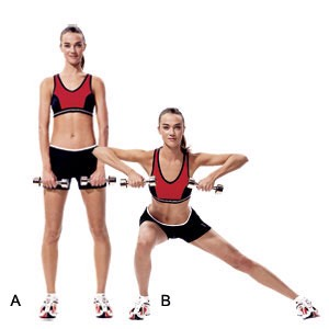 side lunges : these could also help on your butt  30 each side ( count doubles )