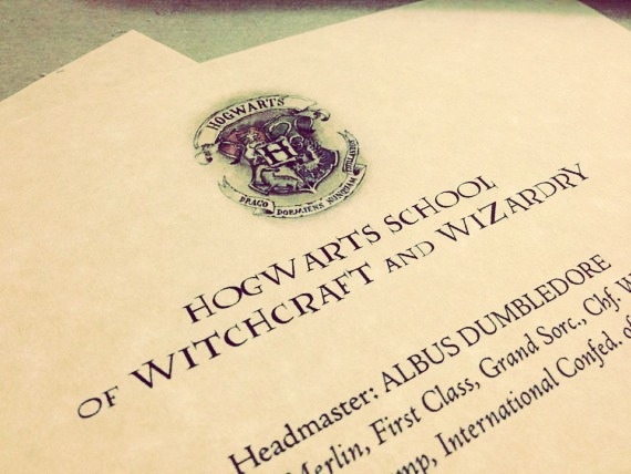 For an invitation you can make it look like a Hogwarts acceptation letter.