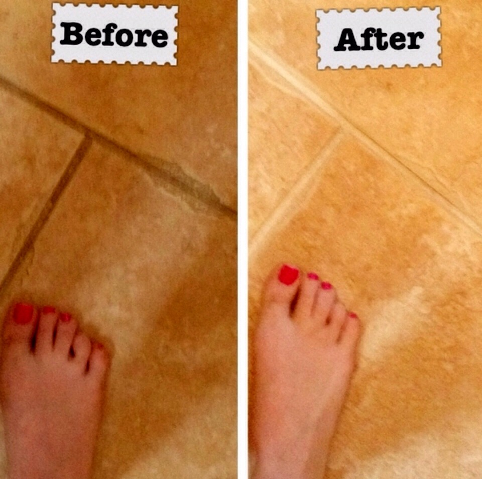 Use resolve to clean your grout lines and make them look like new.