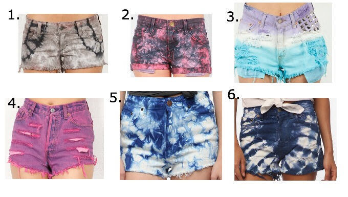 10. Shorts! You can tie-dye shorts just as you would shirts!