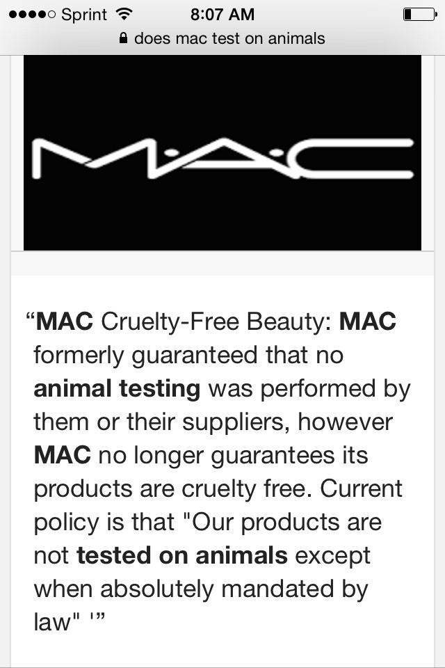 MAC is NOT 100% Cruelty free... What I love about Younique is that the products are just as amazing if not better that MAC!