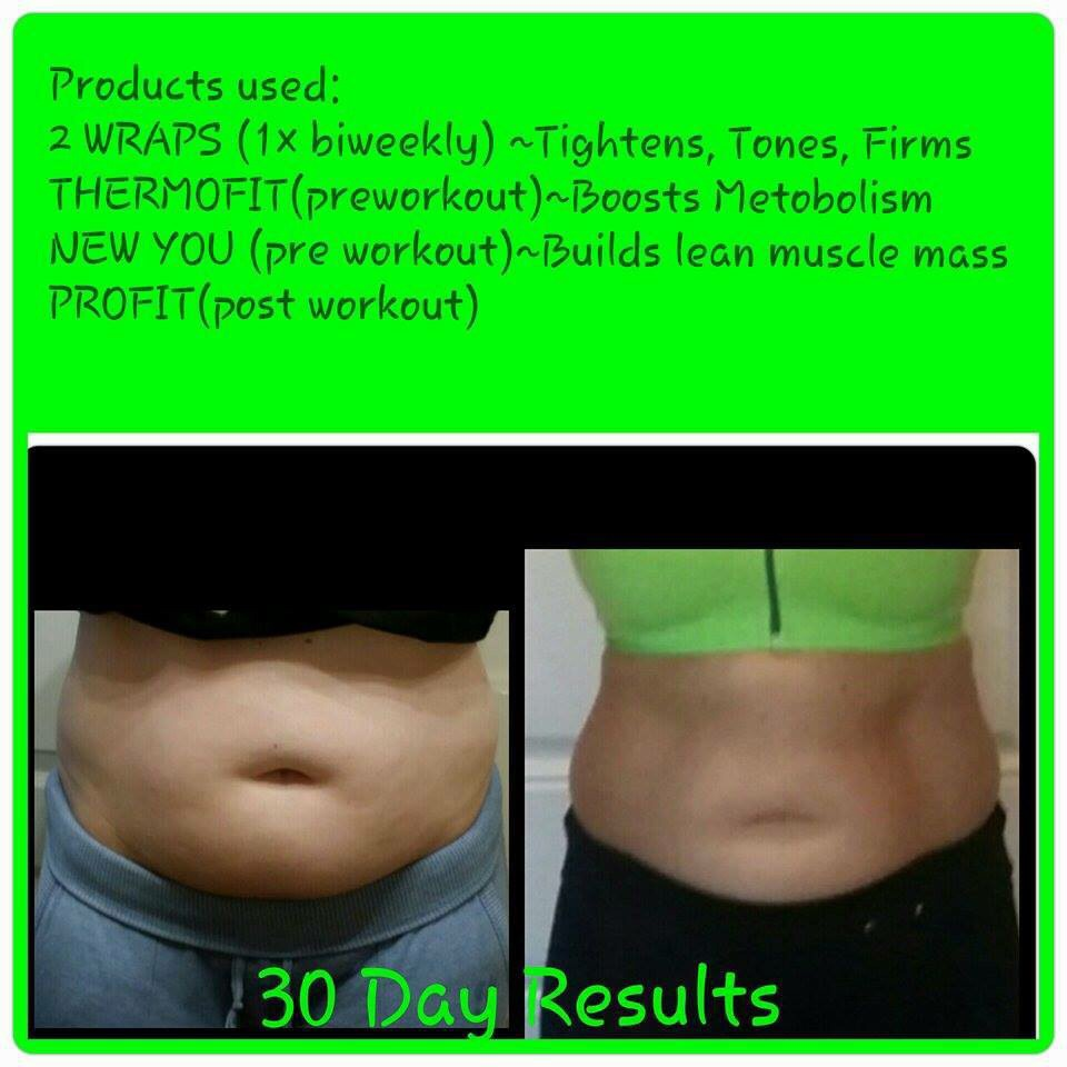 There is a list of the products used to achieve these results.