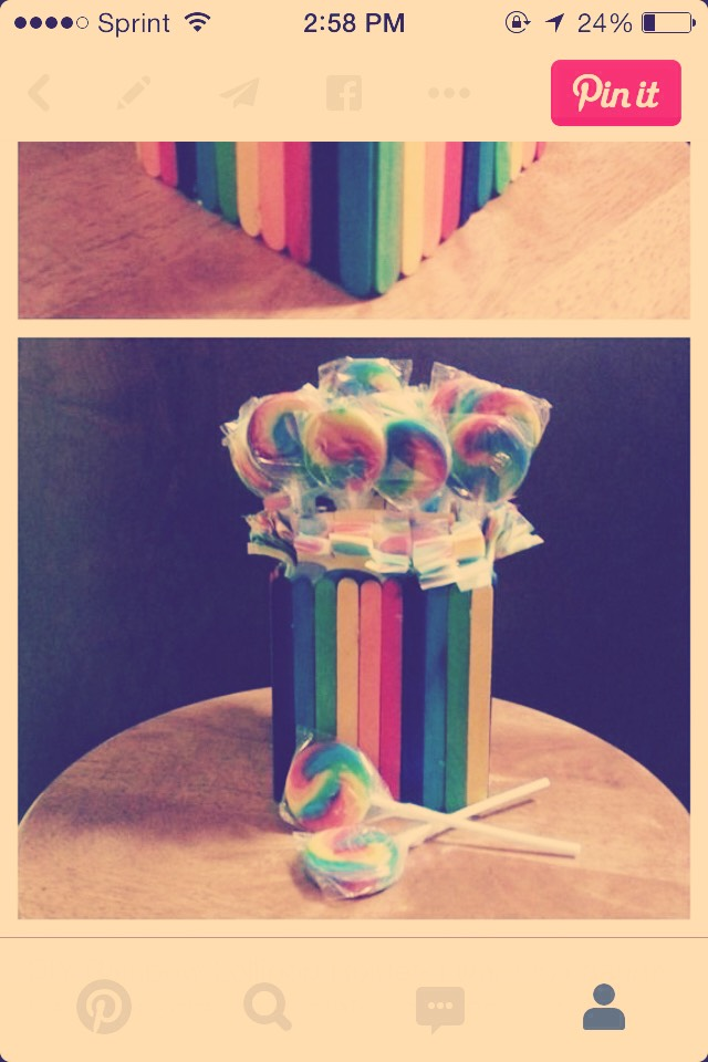 I want to put lollipop like this.i havenmt buy some for my son bday.i just want to show to you.isn't that cute????