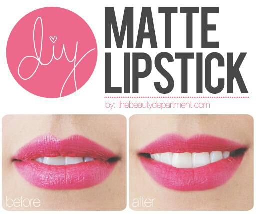 make any lipstick color you own into a matte lipstick.