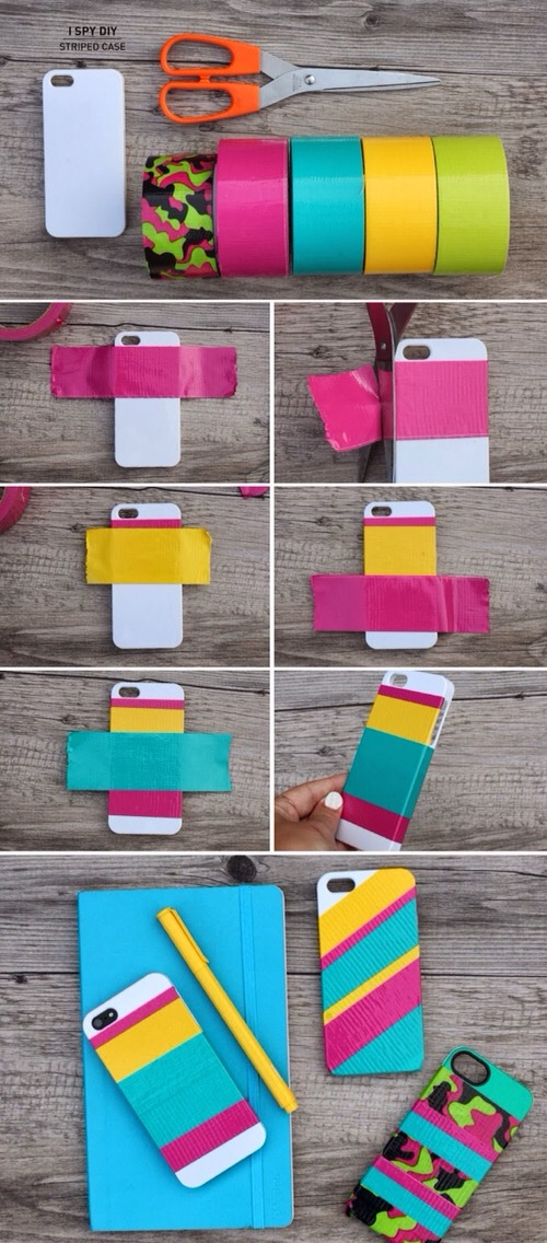 What you need:  iPhone Case Scotch Colors and Patterns Duct Tape Scissors