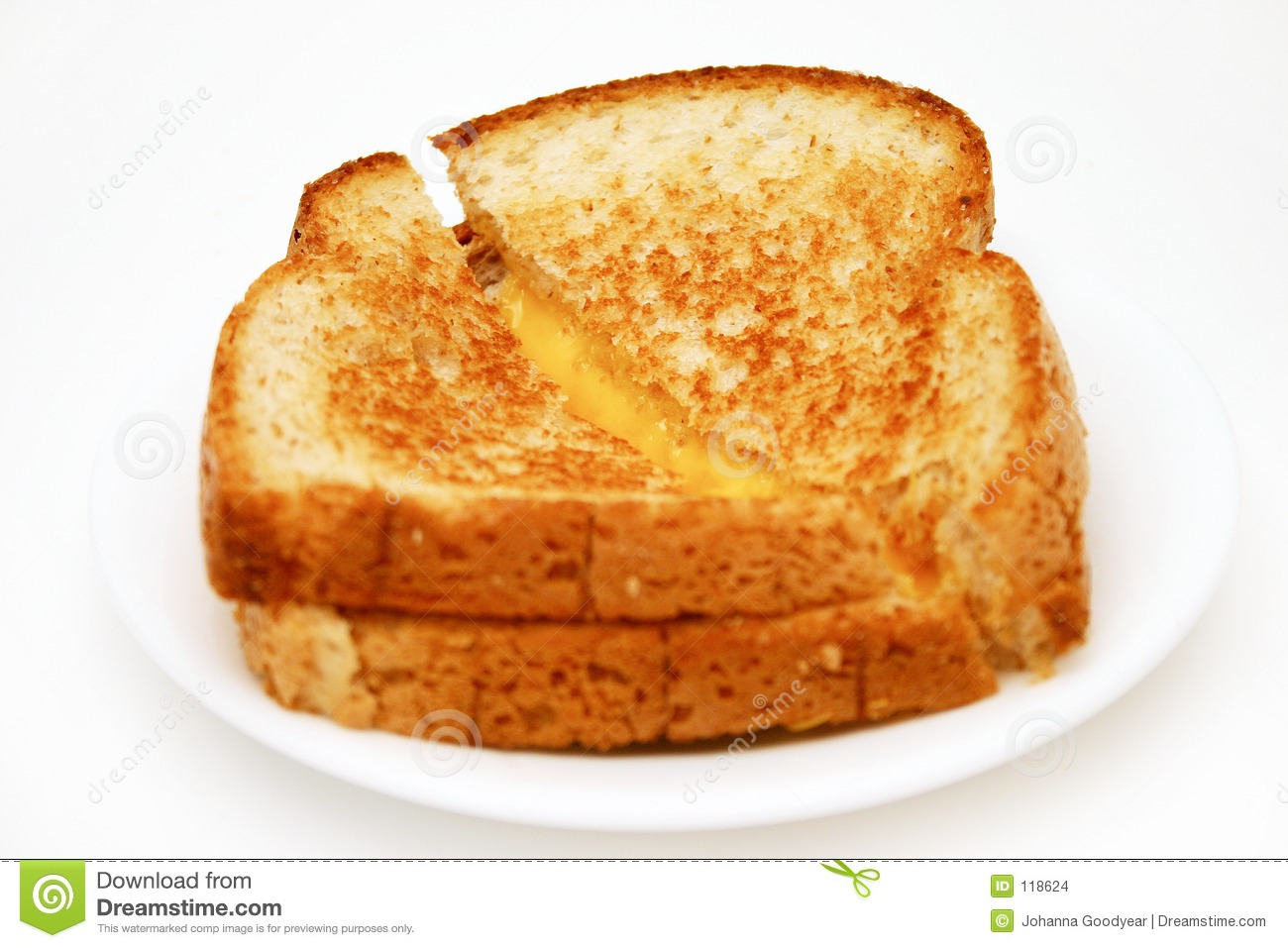Put your bread in the toaster and choose your settings. Get the toast out on a plate and butter them where the cheese will be. Place a slice of cheese and microwave for 30 seconds. Et voilà! Your grilled cheese is ready. Enjoy ^^