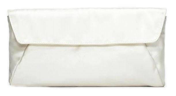 Sleek and classic, this Ann Taylor Satin Clutch will accent nearly any classic wedding gown nicely.
