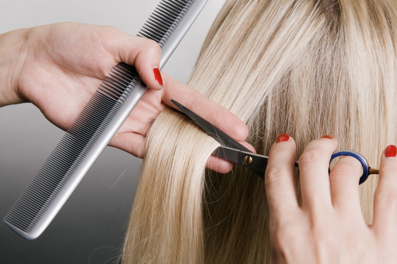 Trim your hair every 8-10 weeks, if you don't your split ends will get worse and your hair won't grow as fast