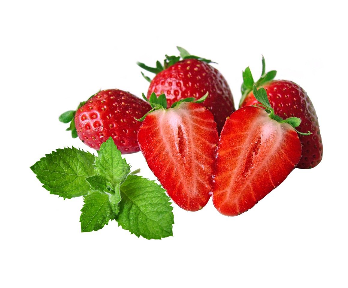 4 strawberries. If you don't like strawberries. You can replace them with black berries or raspberries.