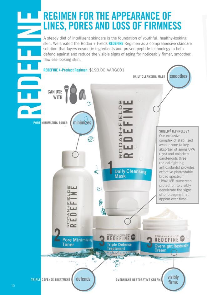 b37f4466a6c REDEFINE is a comprehensive skincare regimen that layers cosmetic  ingredients and proven peptide technology to help