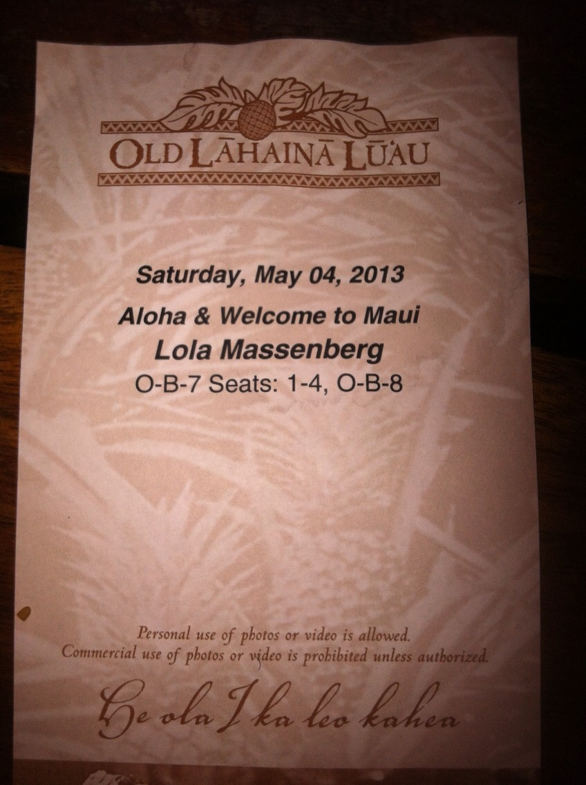 On Maui, go to another Luau! Lol