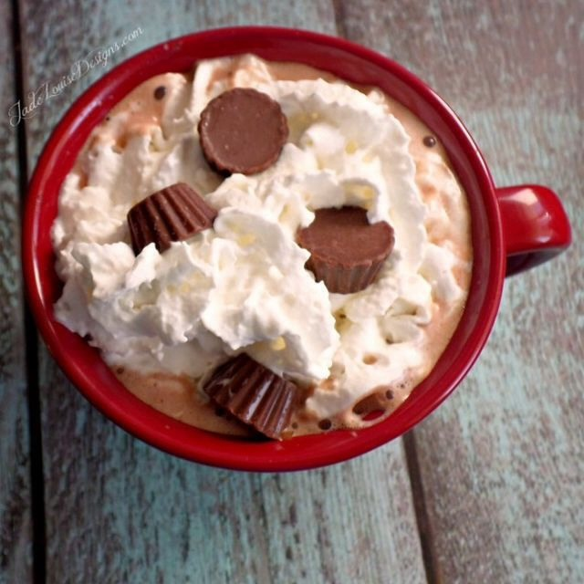 15. Peanut Butter Cup Hot Chocolate