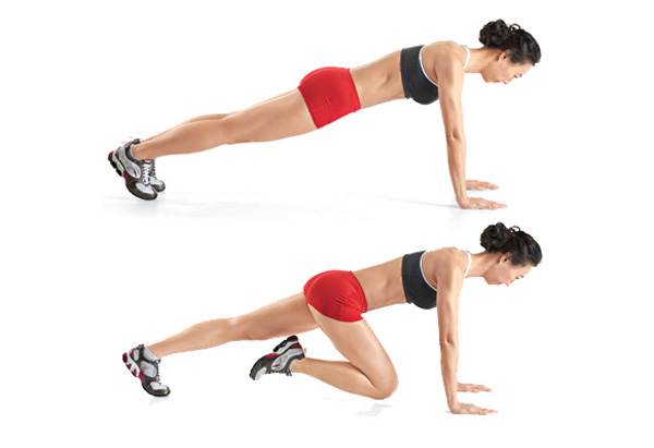 Mountain Climbers Alternating knees 3 sets/ 30 reps