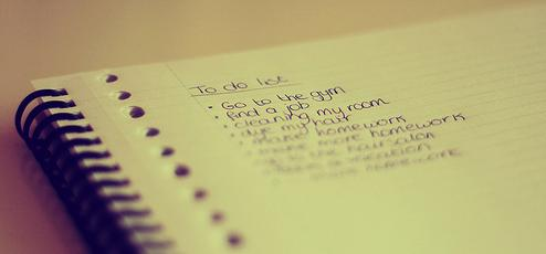 Writing 'to do' lists for the next day can organise your thoughts and clear your mind of any distractions.