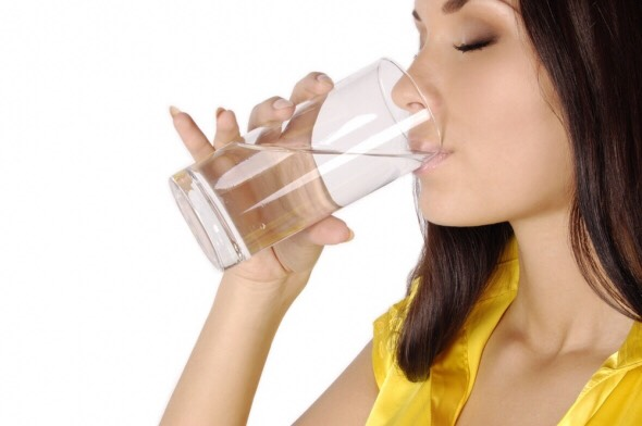 Stay hydrated. It doesn't mean drink water (even though it best) but Gatorade, or even flavored water keeps it low in calories and enhances shine in skin and hair.
