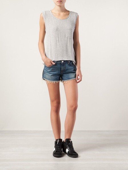 A Pair Of Denim Cutoffs  These are perfect for spring days on the quad or a night out with friends. Pair them with a muscle T-shirt or a more sophisticated peplum top.
