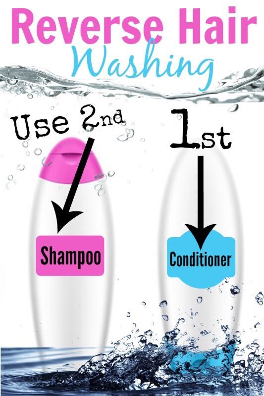 The premise behind reverse hair washing is to help reduce the residue that is left in your hair from the conditioner. Simply use conditioner first, shampoo, and then conditioner again.