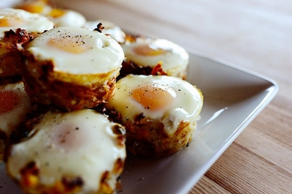1. EGG TOPPED HASH BROWN NESTS