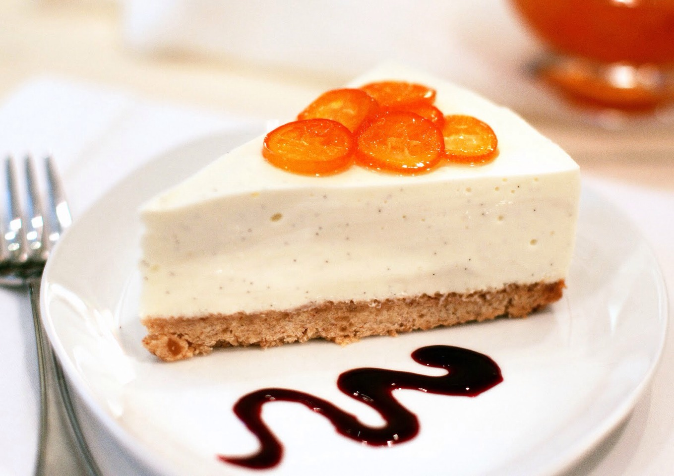 Bake in preheated oven for 1 hour. Turn the oven off, and let cake cool in oven with the door closed for 5 to 6 hours; this prevents cracking. Chill in refrigerator until serving.