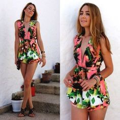 Tropical Print  Sunny daydreams and tropical getaways must have inspired this bright trend. We can't stop coveting neon florals and palm tree prints in a rainbow of tropical colors. From dresses to swimwear, these beachy looks are perfect for basking in the summer sun. Cue the jet.