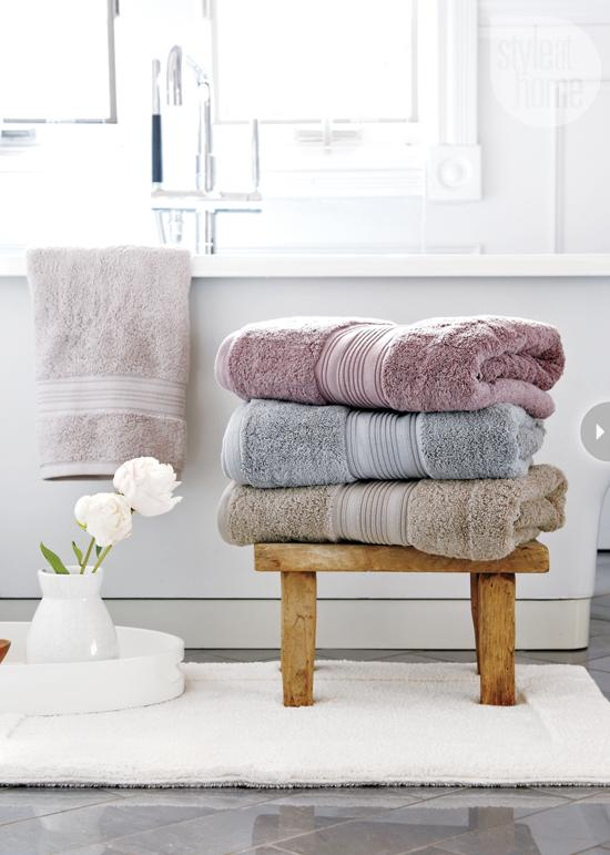 Keeping your towels and PJs (or whatever you're changing into) on a radiator while you're in the bath means such a nice feeling when you get out to get dry! With long hair, it's always useful to have separate towels for your body and hair so you can just 'turban' your hair as soon as you get out.